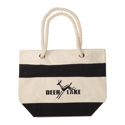 Logo Printed 16 Oz. Portsmouth Cotton Canvas Boat Tote