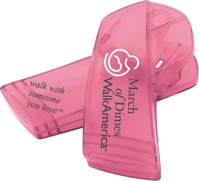 Promotional Breast Cancer Awareness Ribbon Keep-It Clip