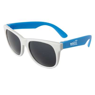 Neon Sunglasses with White Frame