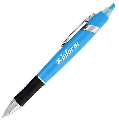Tempo Click Action Pen with Highlighter