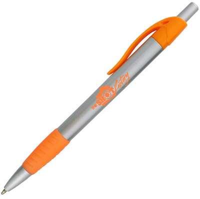 Preston S Silver Barrel Click Pen