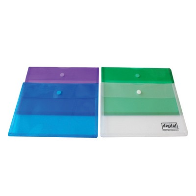 Legal Size Side Open Velcro Envelope with Gusset
