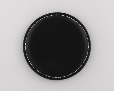 Vintage Round Leather Coaster
