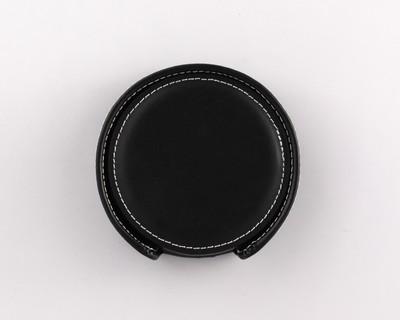 Vintage Leather Coaster Gift Set