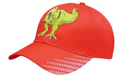 Breathable Poly Twill Cap with Visor Flash Print