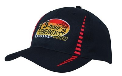 Breathable Poly Twill Cap with Small Check Patterning