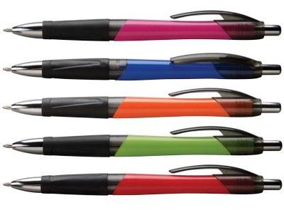 Customisable Gassetto Click Metallic Stylus Ballpoint Pen