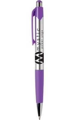 Mardi Gras Chrome Retractable Ballpoint Pen