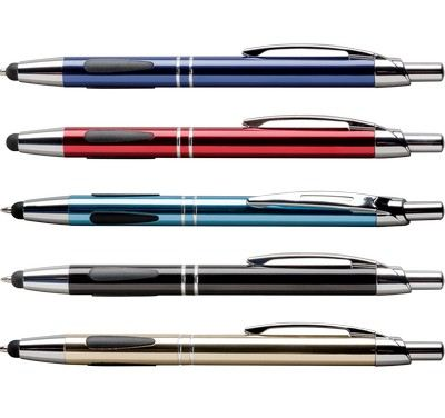 Customised Vienna Stylus Click Metallic Stylus Ballpoint Pen