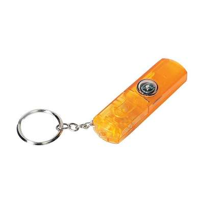 Whistle with Light and Compass Key Chain