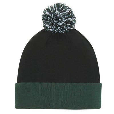 Personalised Knit Pom Beanie w/ Cuff
