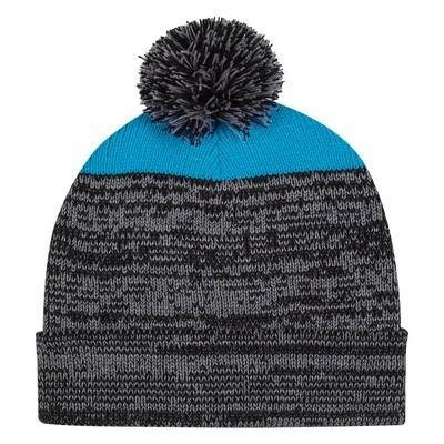 Personalised Knit Heathered Pom Beanie w/ Cuff