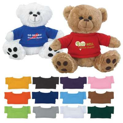 "8 ½"" Plush Big Paw Bear With Shirt"