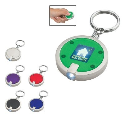 Round LED Key Chain