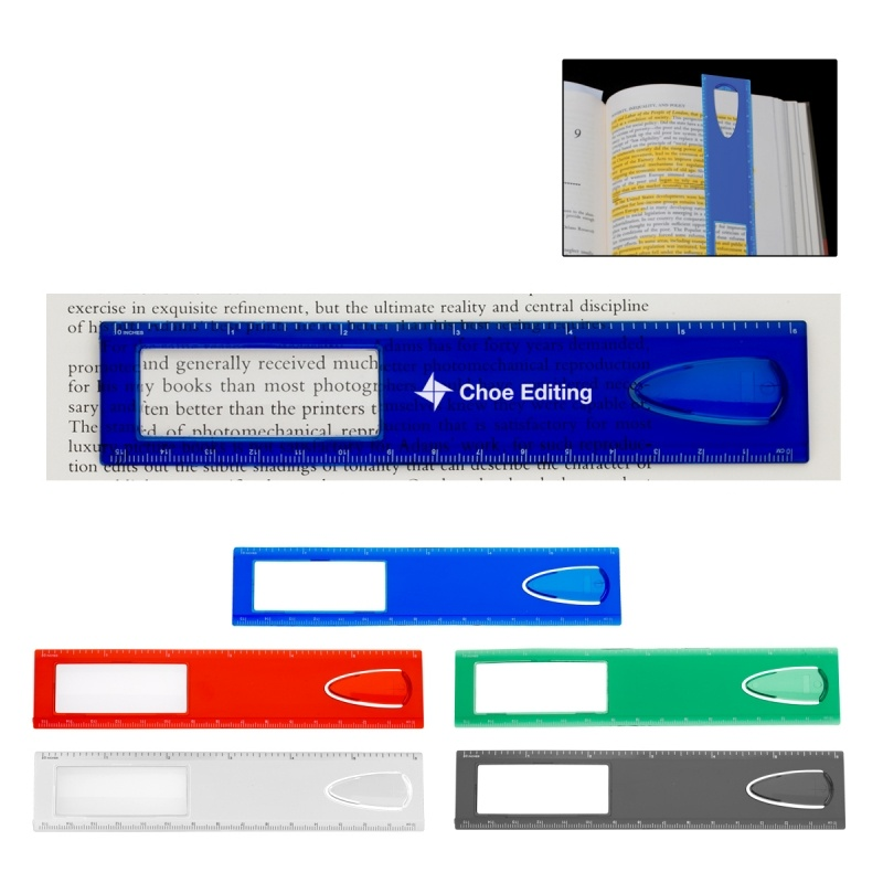 "Picture of 6"" Magnifier Ruler With Bookmark"
