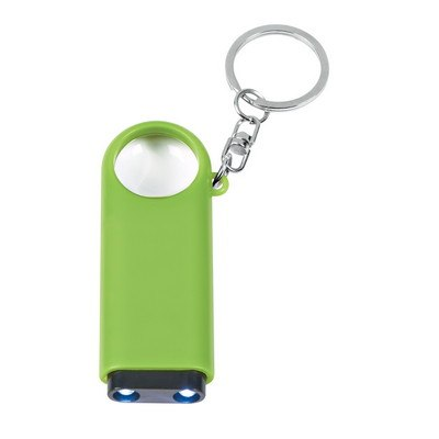 Magnifier And Led Light Key Chain