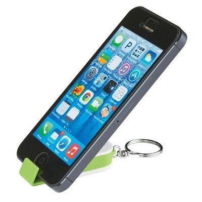 Phone Stand And Screen Cleaner Combo Keychain