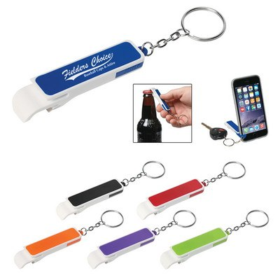 Bottle Opener with Phone Stand and Key Chain