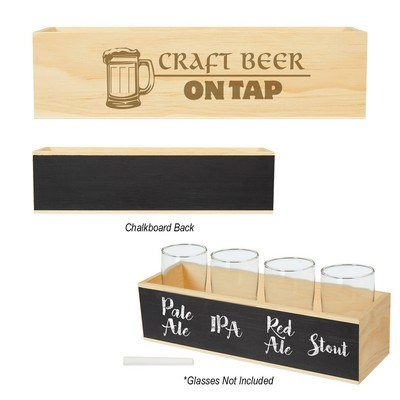 Logoed Chalkboard Flight Crate - PAD Printed