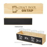 Picture of Logoed Chalkboard Flight Crate - Full Color