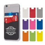 Picture of Dual Pocket Silicone Phone Wallet