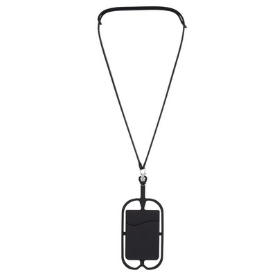 Logoed Silicone Lanyard with Phone Holder & Wallet