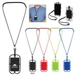 Picture of Logoed Silicone Lanyard with Phone Holder & Wallet
