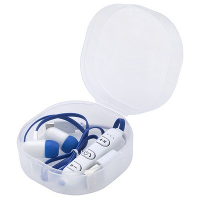 Wireless Earbuds in Forsted Travel Case
