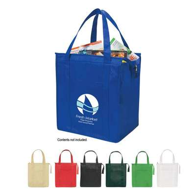 Non-Woven Insulated Shopper Tote Bag - Screen Printed