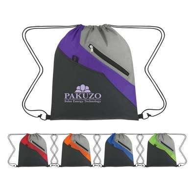 Waverly Drawstring Backpack - Screen Printed
