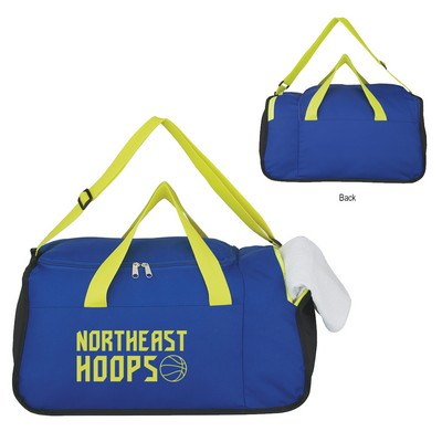 Two Compartment Duffel Bag - Screen Printed