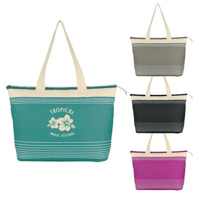 Marina Tote with Zippers - Screen Printed