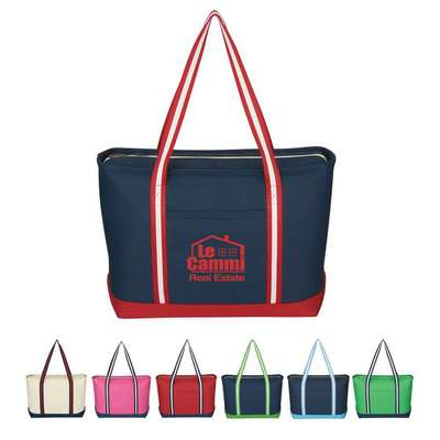 Large Cotton Canvas Admiral Tote - Screen Printed