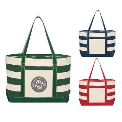 Cotton Canvas Nautical Tote - Embroidered