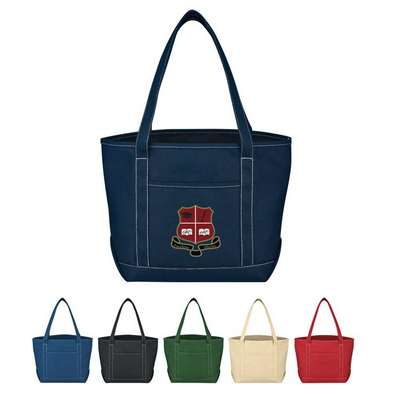Medium Cotton Canvas Yacht Tote - Screen Printed