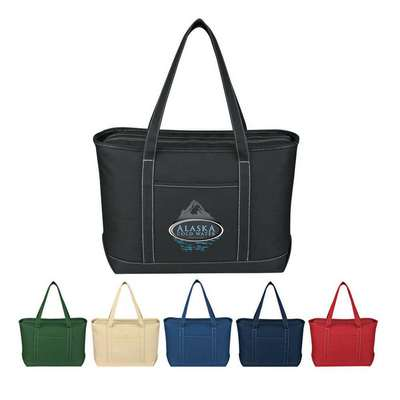 Large Cotton Canvas Yacht Tote - Screen Printed
