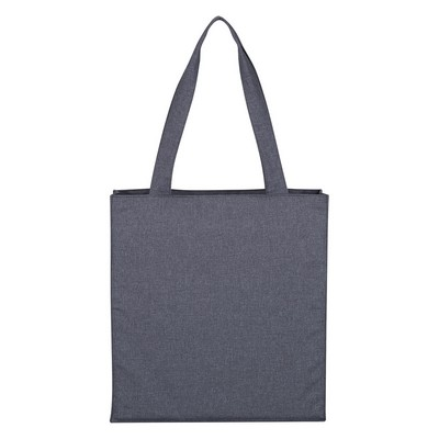 Promotional Hidden Zipper Tote Bag - Screen Printed