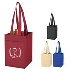 Picture of Non-Woven 4 Bottle Wine Tote