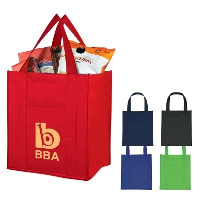 Matte Laminated Non-Woven Shopper Tote Bag - Screen Printed