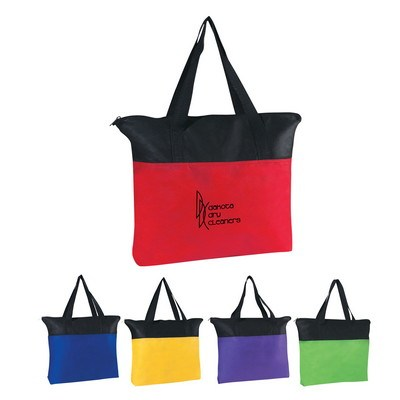 Non-Woven Zippered Tote Bag - Screen Printed