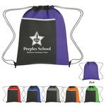 Picture of Non Woven Drawstring Pack with Large Front Pocket