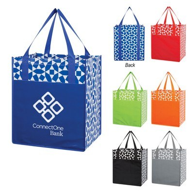 Customizable Non-Woven Geometric Shopping Tote Bag