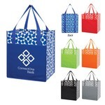 Picture of Customizable Non-Woven Geometric Shopping Tote Bag