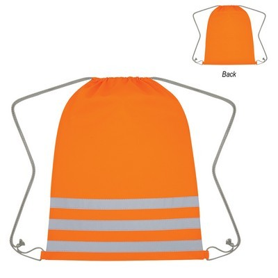 Custom Reflective Safety Drawsting Bag