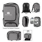 Picture of Promotional Heathered RIFD Computer Backpack and Briefcase - Embroidered