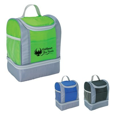 Two-Tone Insulated Lunch Bag - Screen Printed