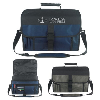 Expandable Deluxe Briefcase - Embroidered