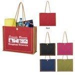 Picture of Custom Paradise Jute Tote Bag