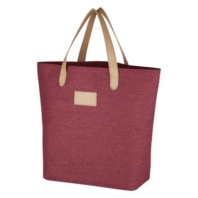 Custom Heathered Tote Bag