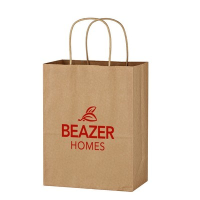 Promotional Kraft Paper Brown Shopping Bag